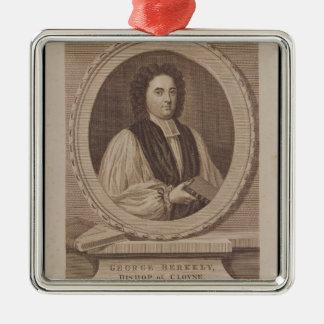 Retrato del obispo de George Berkeley Ornamento De Navidad