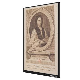 Retrato del obispo de George Berkeley Impresión En Lona