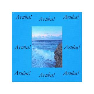 Retrato del océano de Aruban Impresiones De Lienzo