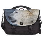 Retrato del oso polar bolsas de ordenador