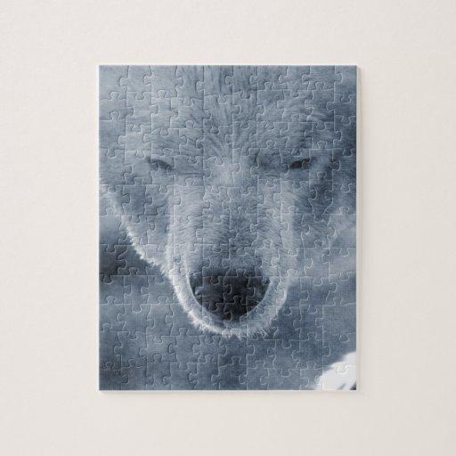 Retrato del oso polar rompecabeza