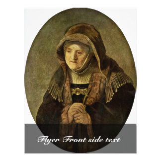 Retrato del óvalo de Rembrandt de la madre de Remb Tarjetones
