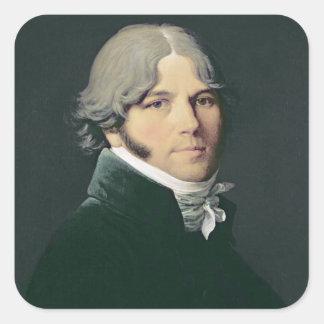 Retrato del padre del artista, 1804 pegatina cuadrada