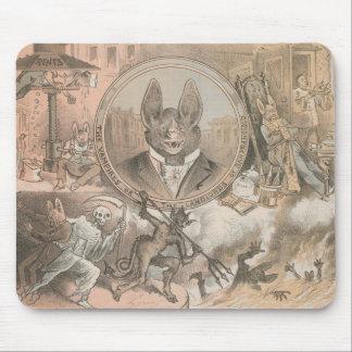 Retrato del palo de vampiro alfombrillas de ratón