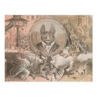 Retrato del palo de vampiro tarjetas postales