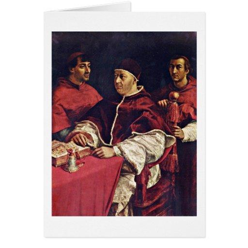Retrato del papa León X y cardenales de Raffael Tarjetas