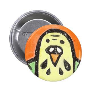 Retrato del Parakeet Pin Redondo 5 Cm