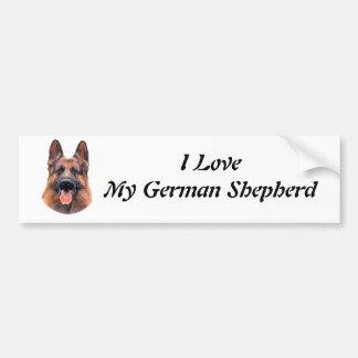 Retrato del pastor alemán pegatina para auto