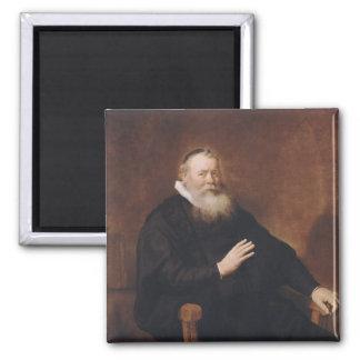 Retrato del pastor Eleazer Swalmius, 1637-42 Imán Cuadrado