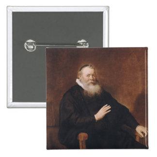 Retrato del pastor Eleazer Swalmius, 1637-42 Pin Cuadrado