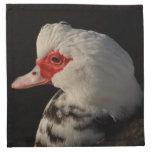 Retrato del pato de Muscovy Servilleta Imprimida