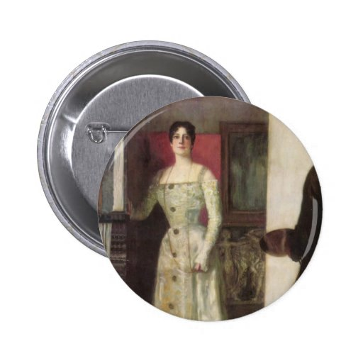Retrato del Pegar-Uno mismo de Francisco del Pin Redondo De 2 Pulgadas