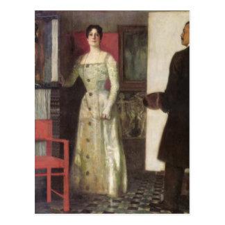 Retrato del Pegar-Uno mismo de Francisco del pinto Postales