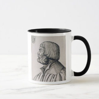Retrato del perfil de Albrecht Durer, 1527 Taza