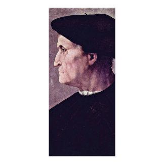 Retrato del perfil de un hombre (Francisco DA Cast Plantillas De Lonas