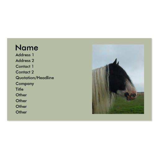 Retrato del perfil del chapucero plantilla de tarjeta personal