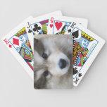 Retrato del perrito baraja de cartas