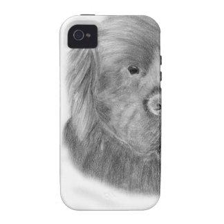 Retrato del perro de Terranova Case-Mate iPhone 4 Fundas