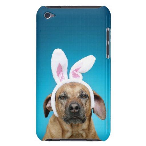 Retrato del perro que lleva los oídos del conejito iPod touch Case-Mate cobertura
