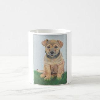Retrato del perro taza mágica