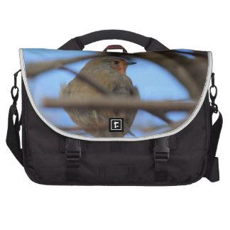retrato del petirrojo bolsa para ordenador