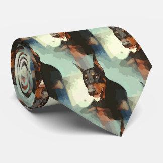 Retrato del Pinscher del Doberman Corbatas Personalizadas