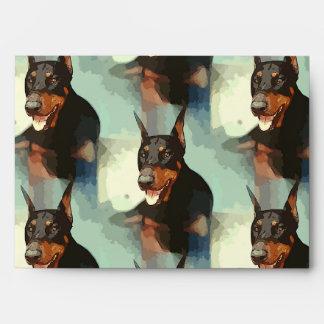 Retrato del Pinscher del Doberman Sobre