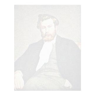 Retrato del pintor Alfred Sisley por el Pedro-Au Plantilla De Membrete