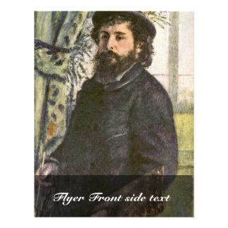 Retrato del pintor Claude Monet de Pedro Tarjeta Publicitaria