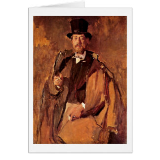 Retrato del pintor Paul Von Szinyei Merse cerca Tarjeta De Felicitación