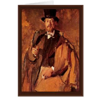 Retrato del pintor Paul Von Szinyei Merse Tarjeta De Felicitación
