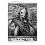 Retrato del pirata de Henry Morgan Tarjeta
