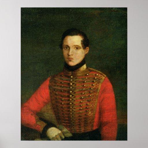 Retrato del poeta Michail Lermontov Póster