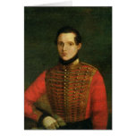 Retrato del poeta Michail Lermontov Tarjeta De Felicitación