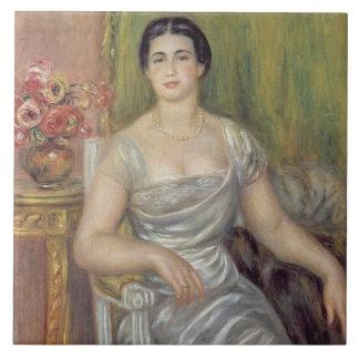 Retrato del poetess Alicia Valliere-Merzbach, 1 Azulejo Cuadrado Grande