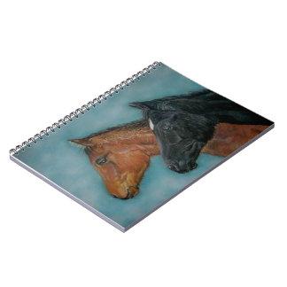 Retrato del potro de la castaña del potro del libro de apuntes