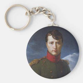 Retrato del primer cónsul de Napoleon Bonaparte Llavero Redondo Tipo Pin
