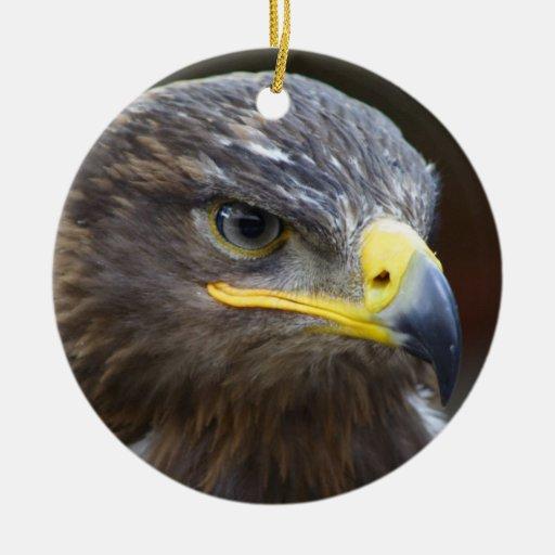 Retrato del primer de Eagle de la estepa Adorno Redondo De Cerámica