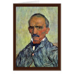 Retrato del principal encargado del asilo tarjeta