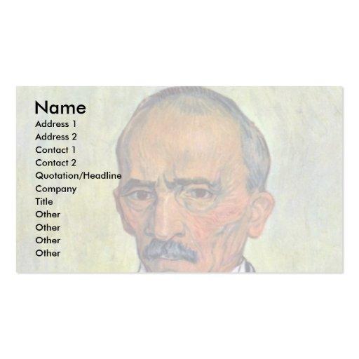 Retrato del principal encargado del asilo tarjetas de negocios
