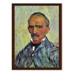 Retrato del principal encargado del asilo tarjeta postal