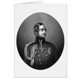 Retrato del Príncipe Alberto Tarjetón