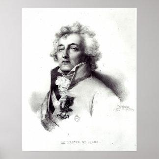 Retrato del príncipe de Charles-José del mariscal Póster
