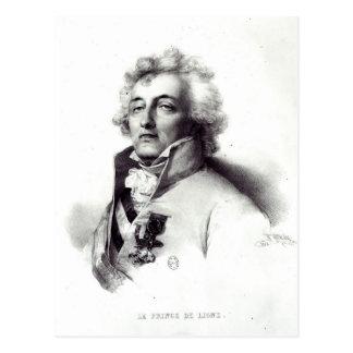 Retrato del príncipe de Charles-José del mariscal Tarjeta Postal