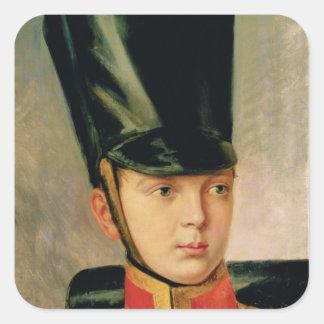 Retrato del Príncipe heredero Alexander Calcomania Cuadradas