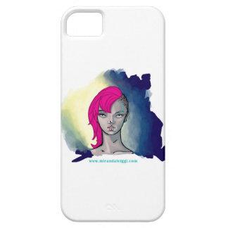 Retrato del punk rock iPhone 5 carcasas