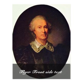 Retrato del Randon De Boisset Oval por Greuze J Flyer A Todo Color