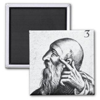 Retrato del retrato de Horacio de Scipio Imán Cuadrado