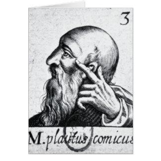 Retrato del retrato de Horacio de Scipio Tarjetón