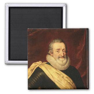 Retrato del rey de Enrique IV de Francia Imán Cuadrado